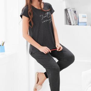 Women Dark Grey Pyjama Set