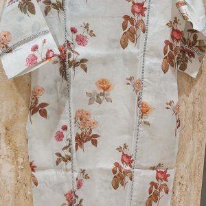 Linen Kurti With Floral Prints